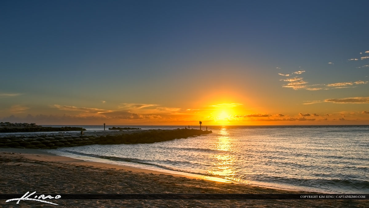 Boca Raton Inlet Sunrise Inlet at Beach