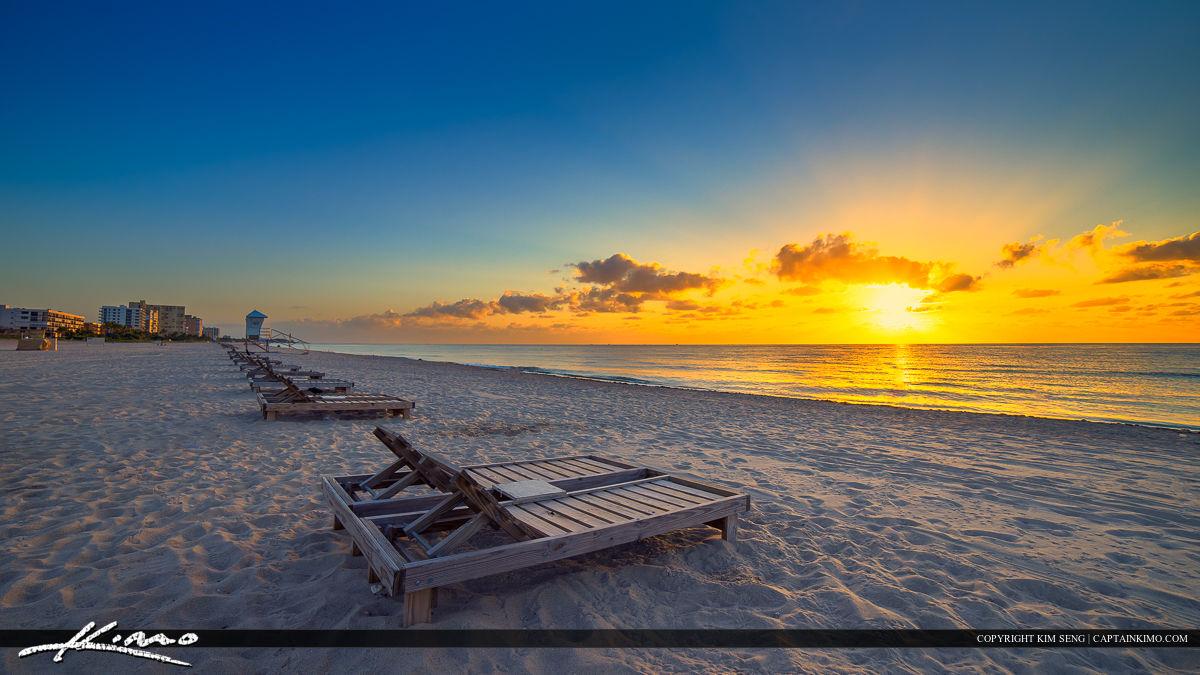 Pompano Beach Fishing Pier with Beach Chairs