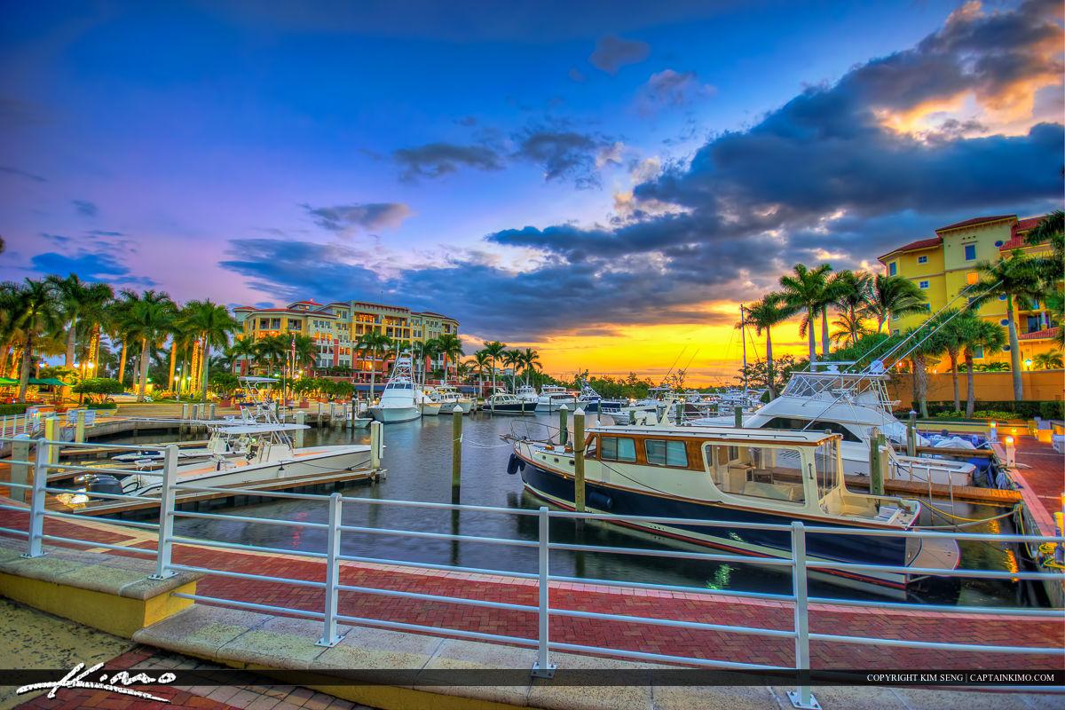Jupiter Yacht Club Marina at the River During Sunset