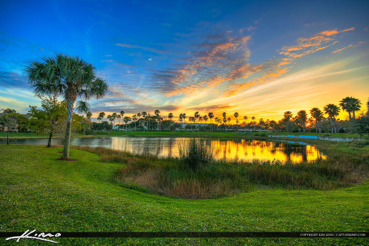 Palm Beach Garden Lake at Sunset Gardens Mall