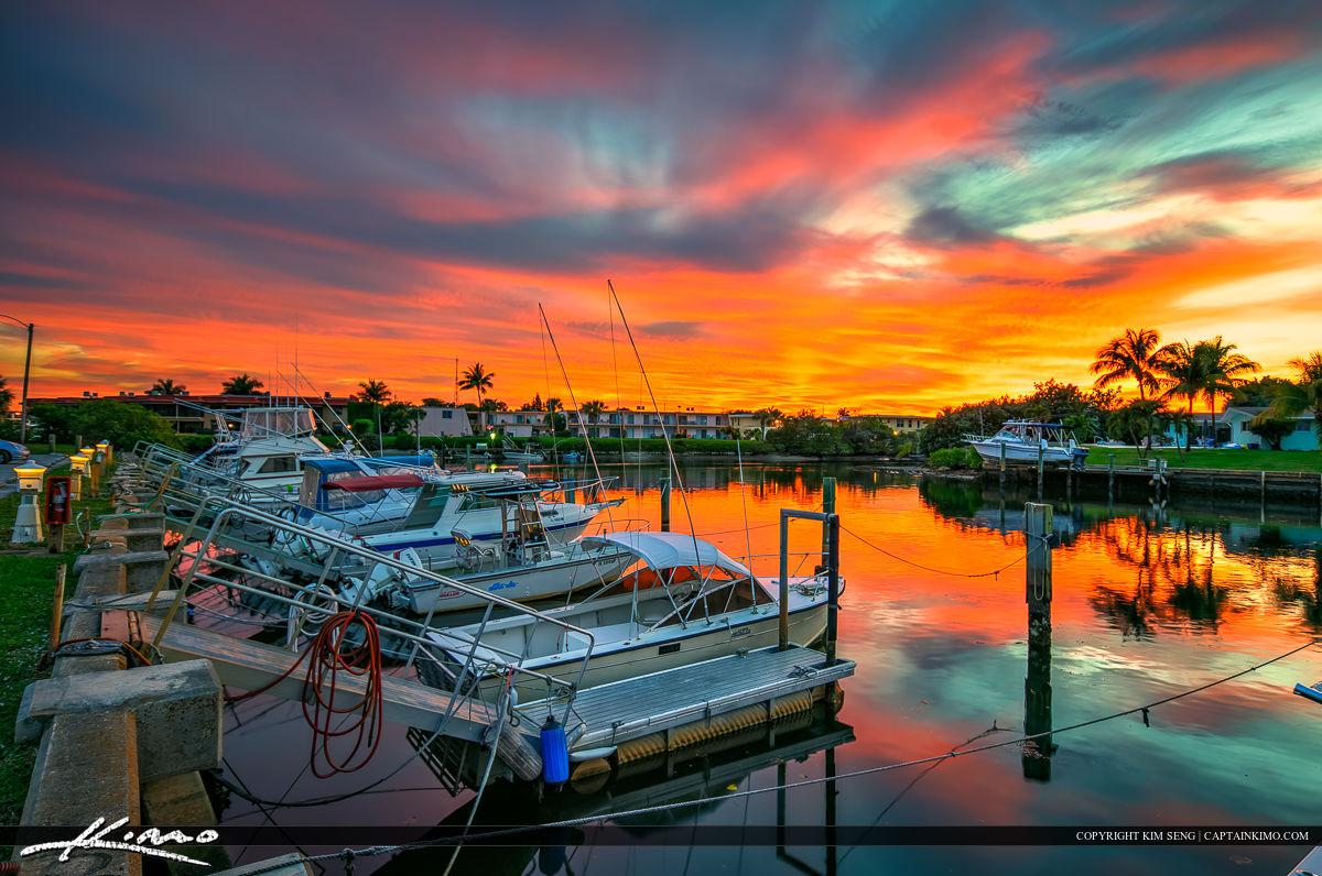 North Palm Beach Marina at Boat Dock