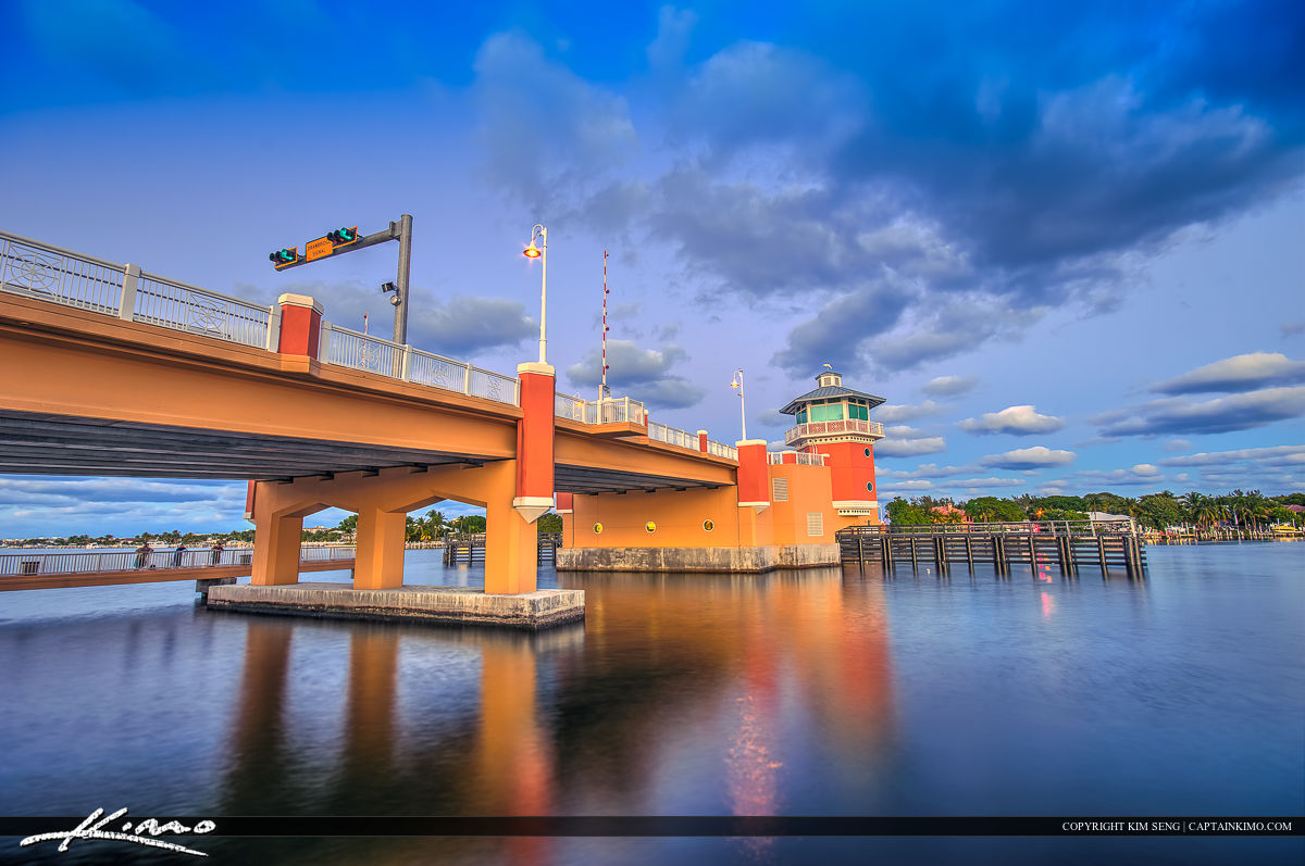 Lantana Beach Bridge along the Waterway