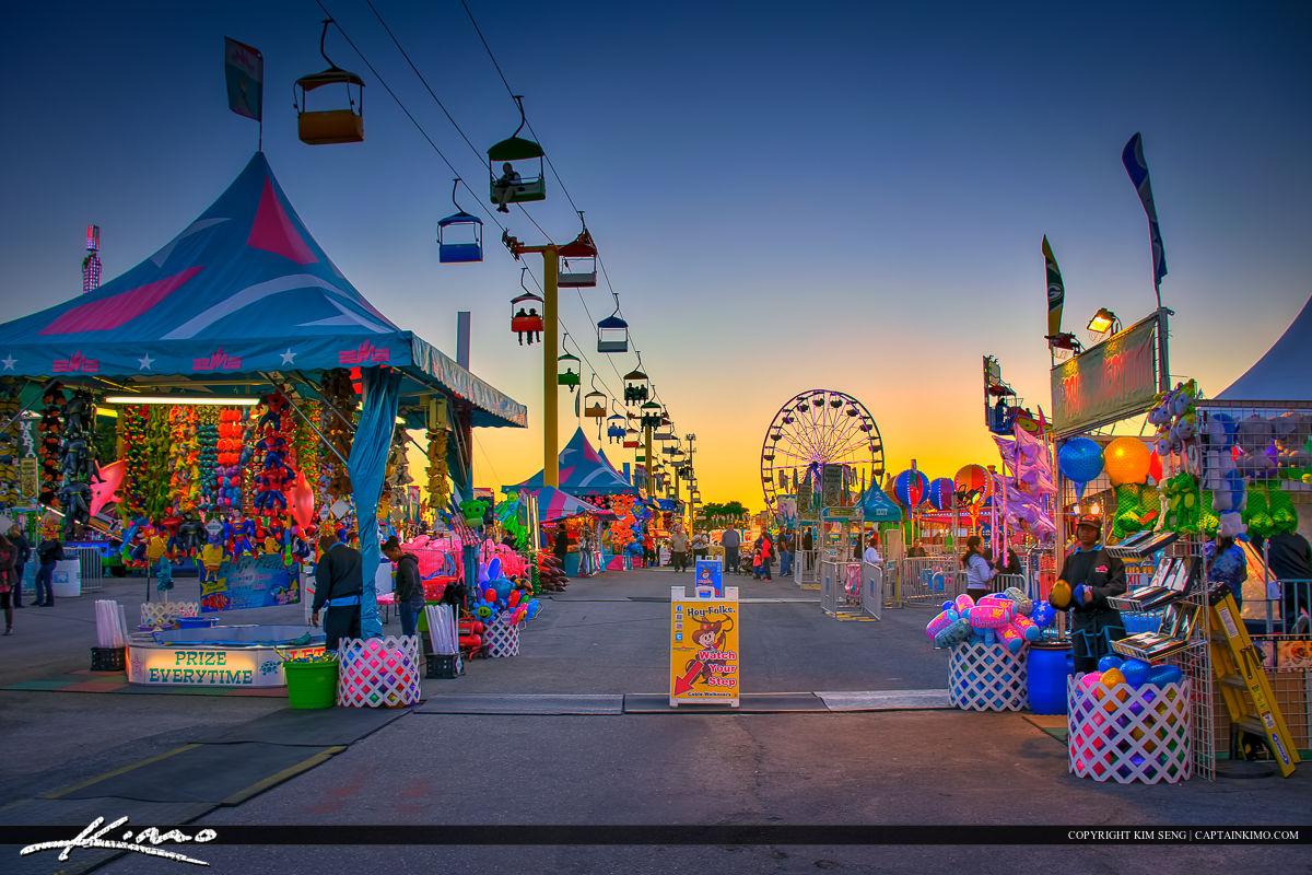 South Florida Fair at Sunset