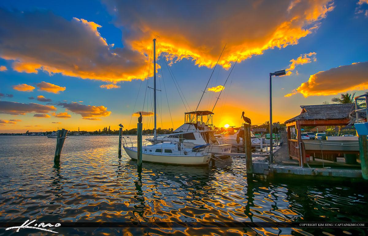Lantana Sunset from Marina at Waterway