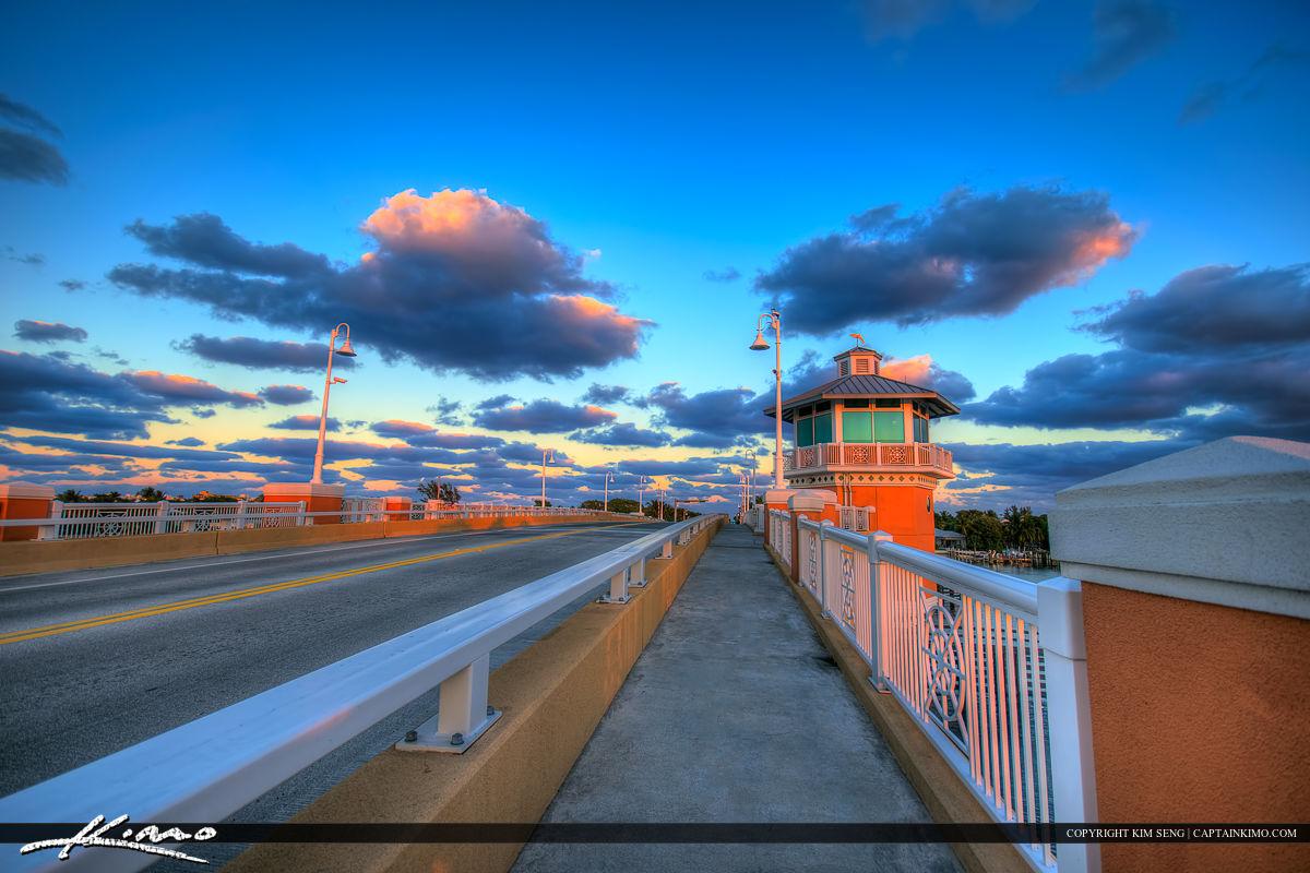 Lantana Florida Drawbridge Over Lake Worth Lagoon
