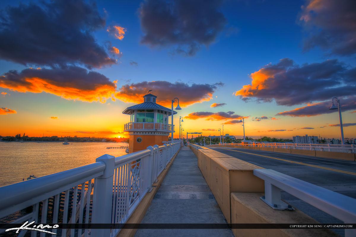 Lantana Florida Drawbridge Sunset from the Bridge