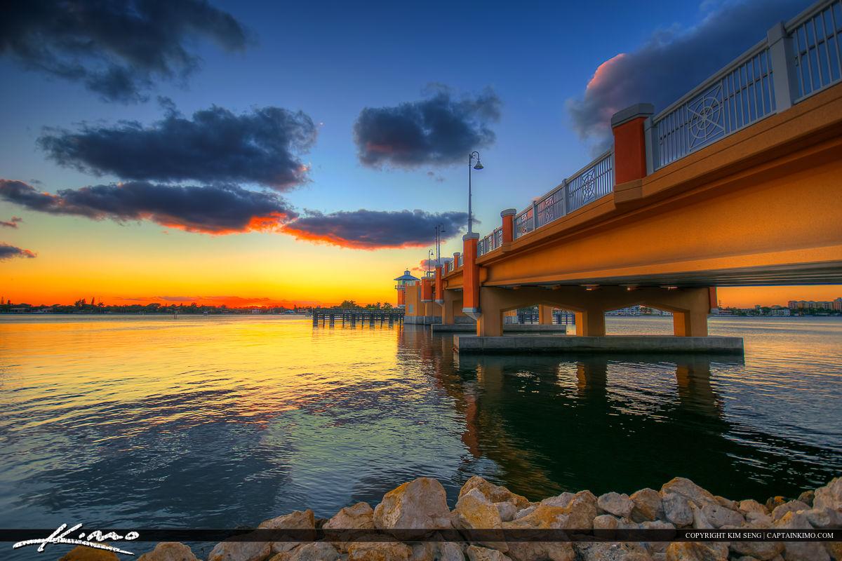 Lantana Florida Drawbridge Sunset from Base