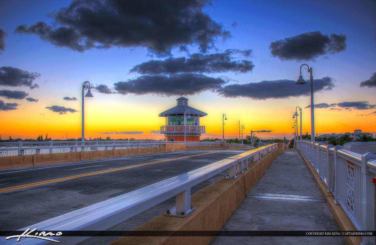 Lantana Florida Drawbridge from Top of Bridge