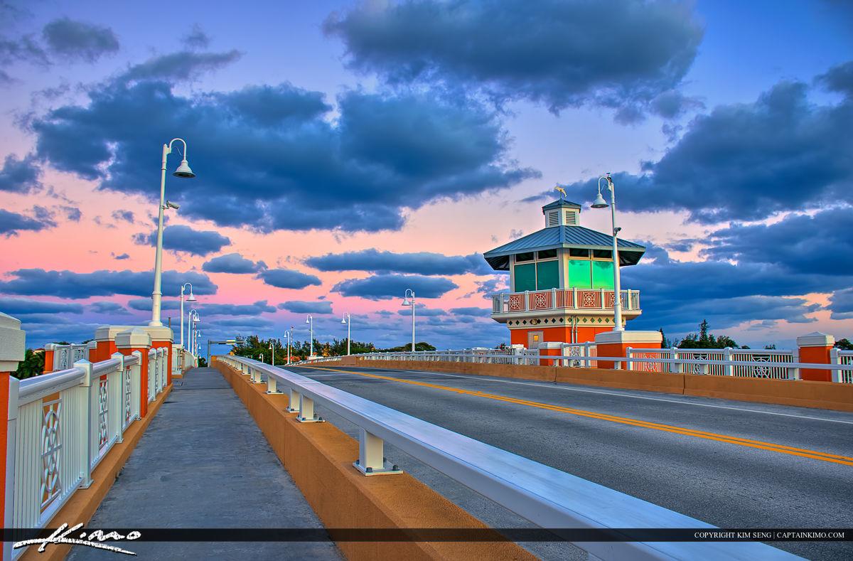 Lantana Florida Drawbridge Amazing Colors and Clouds