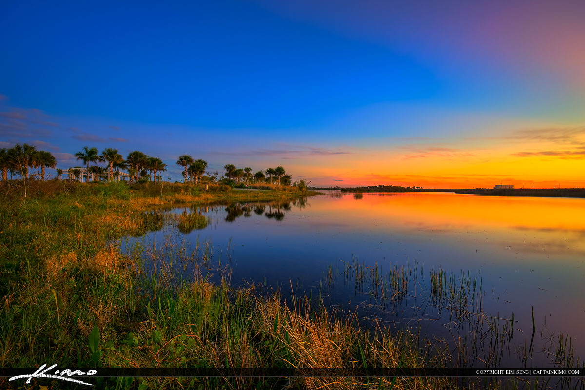 Wellington Environmental Preserve Sunset Over Wetlands