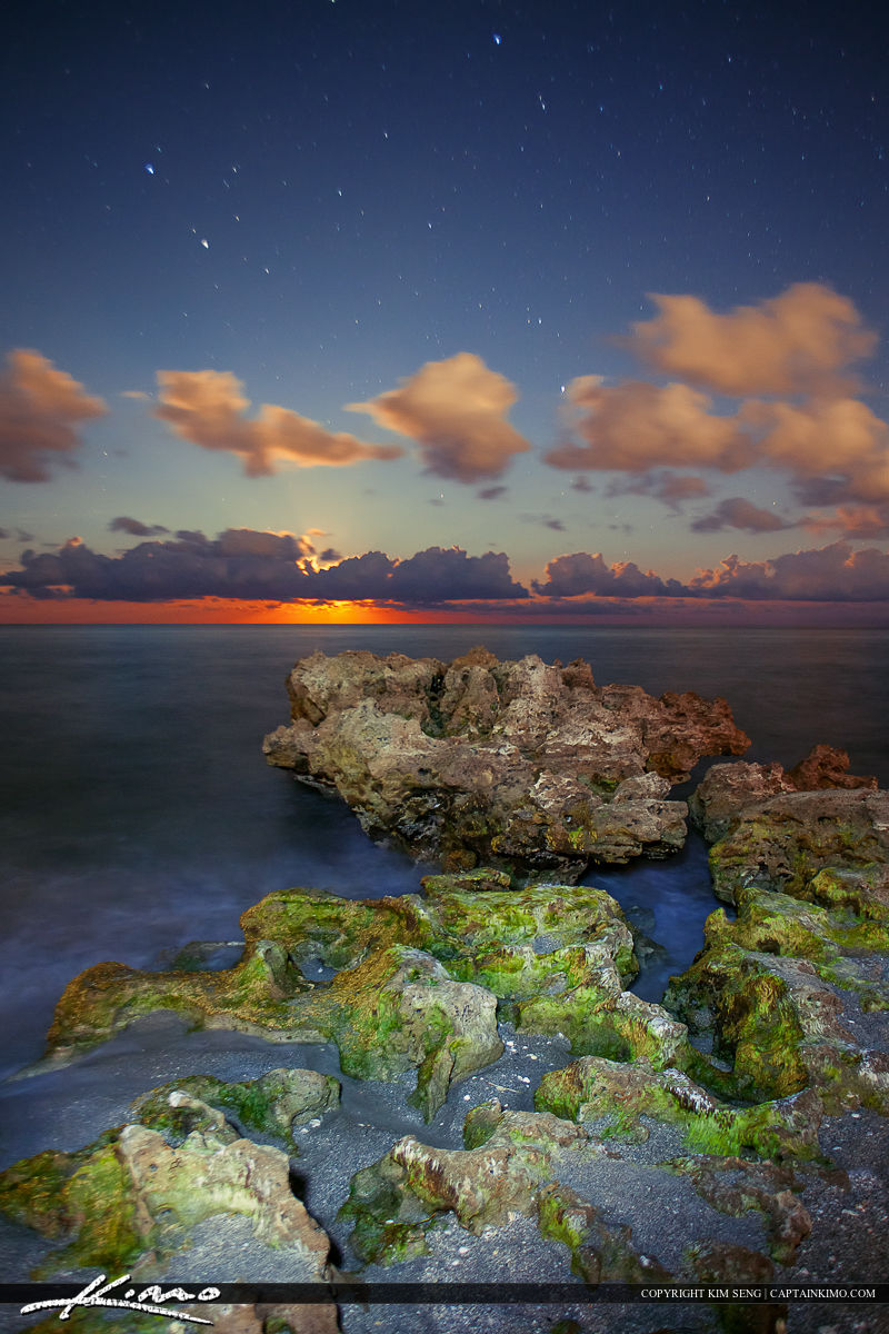 Moon Rise Coral Cove Vertical Image Photo