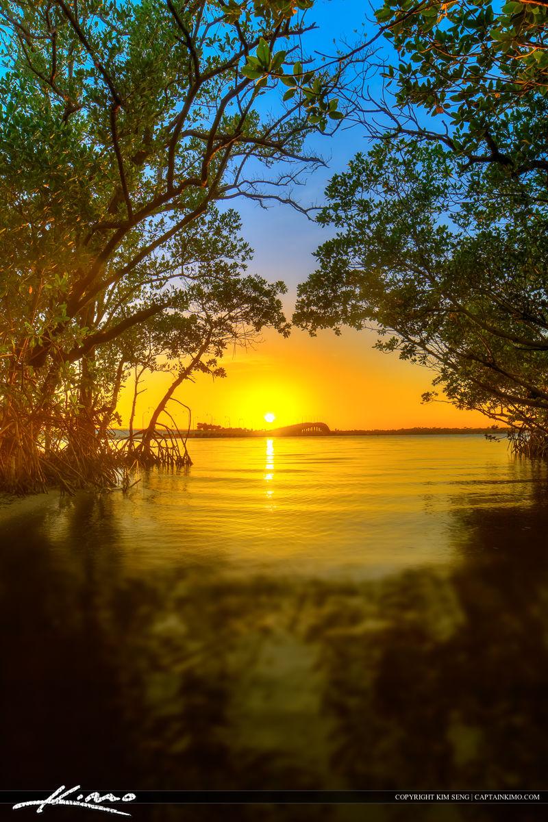 Jensen Beach Florida Sunset Martin County Bridge