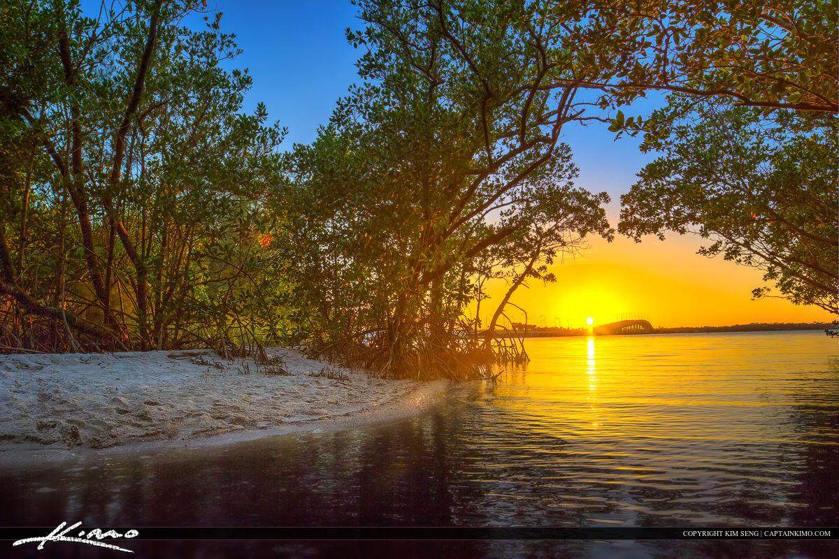 Jensen Beach Florida Sunset at Indian River Lagoon