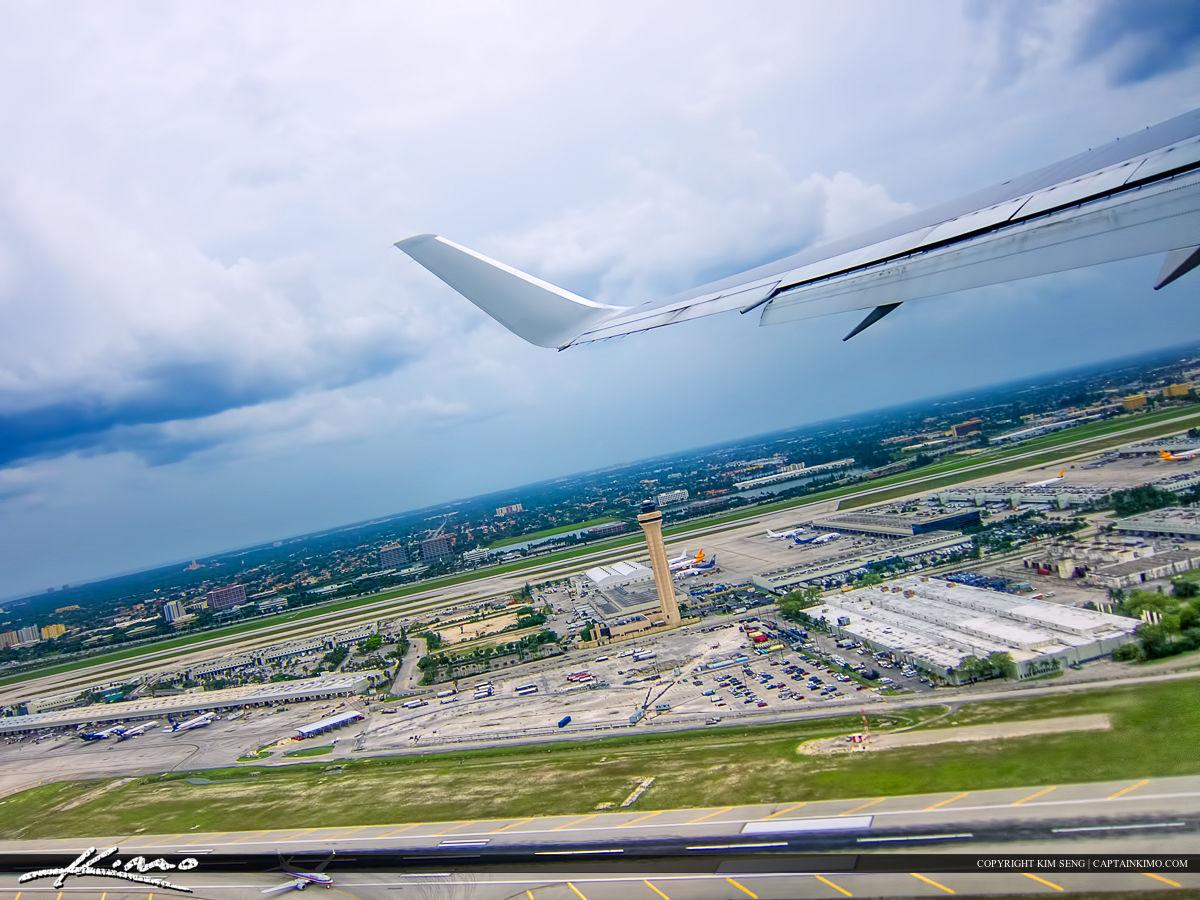 Palm Beach International Airport from Airplane Window