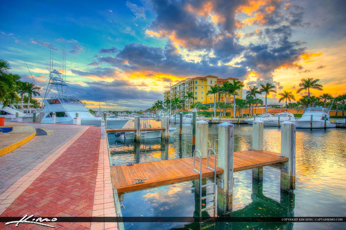 Riverwalk Marina in Jupiter Florida by the Docks