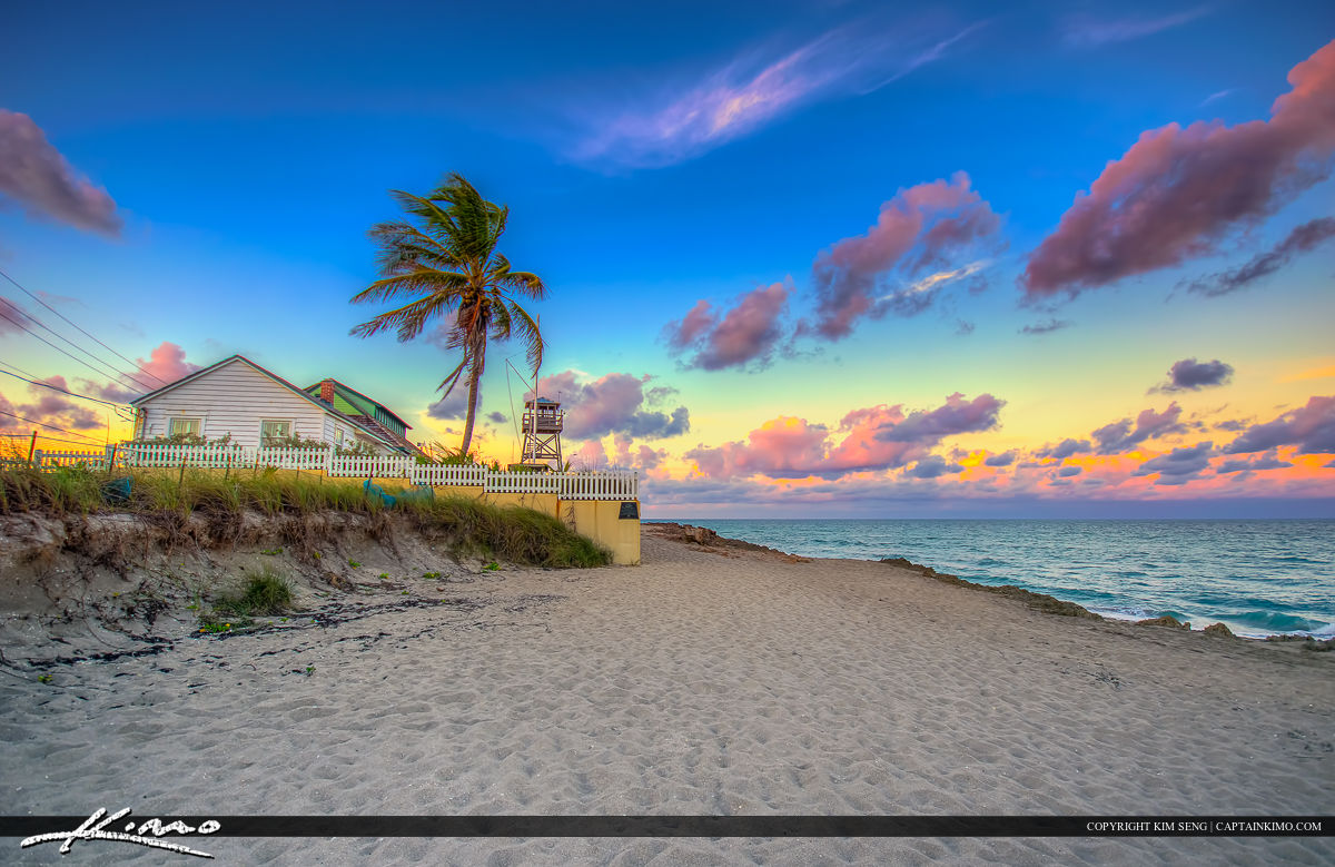 House of Refuge at Beach Stuart Florida Sunset