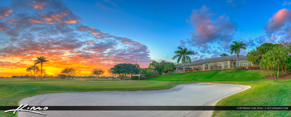 Abacoa Golf Course Clubhouse Panorama Wide