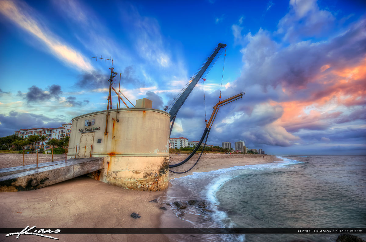 Palm Beach Inlet Stormy Sunrise at Pumphouse