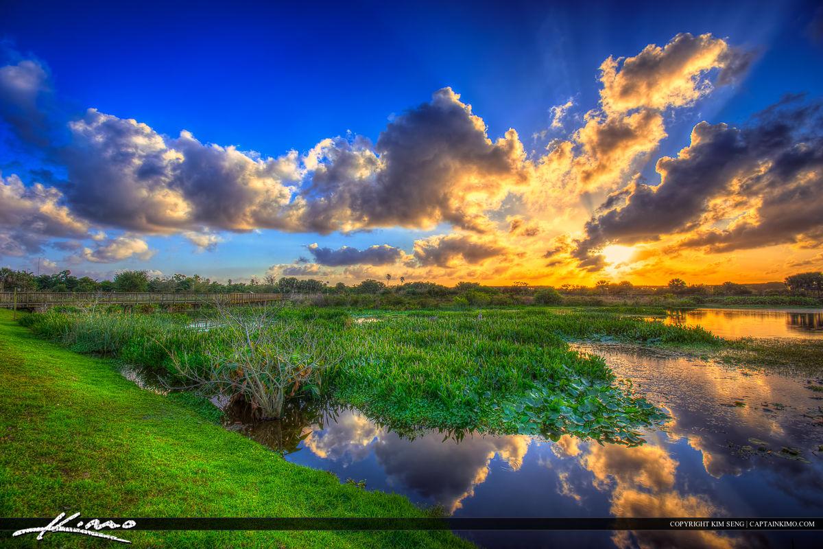Peaceful Waters Wetlands Wellington Florida Sunset