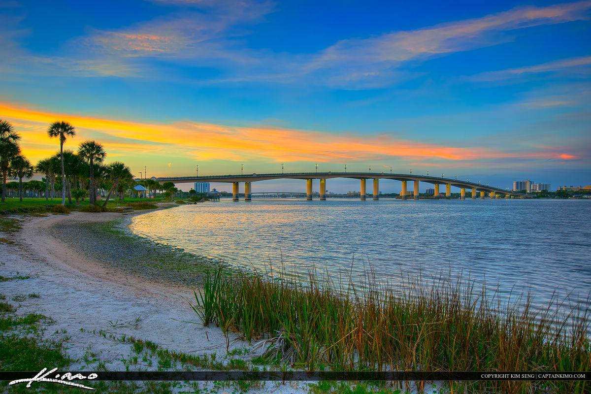 Daytona Beach Florida Bridge Over Halifax River