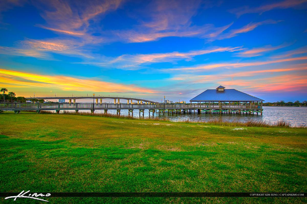 Daytona Beach Florida Pier on Halifax River