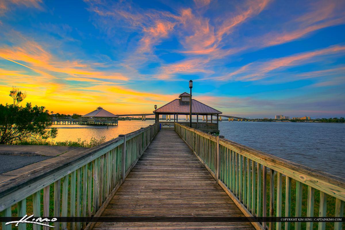 Daytona Beach Florida Fishing Pier Halifax River