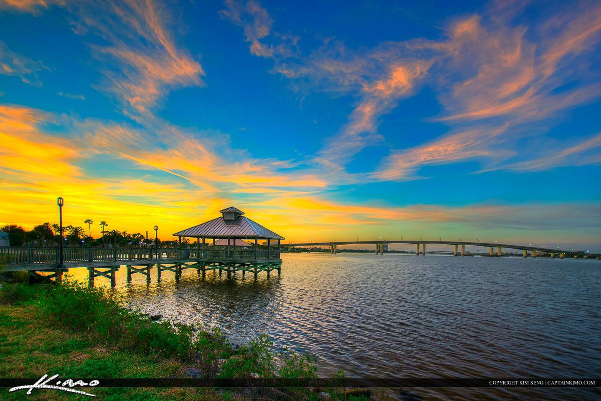 Daytona Beach Florida Sunset at Park