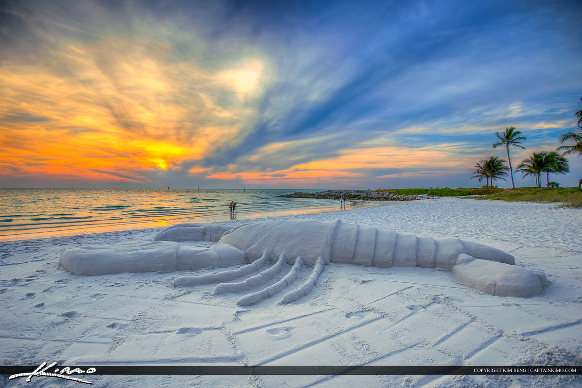 Naples Florida Lobster Sand Statue Gulf Coast