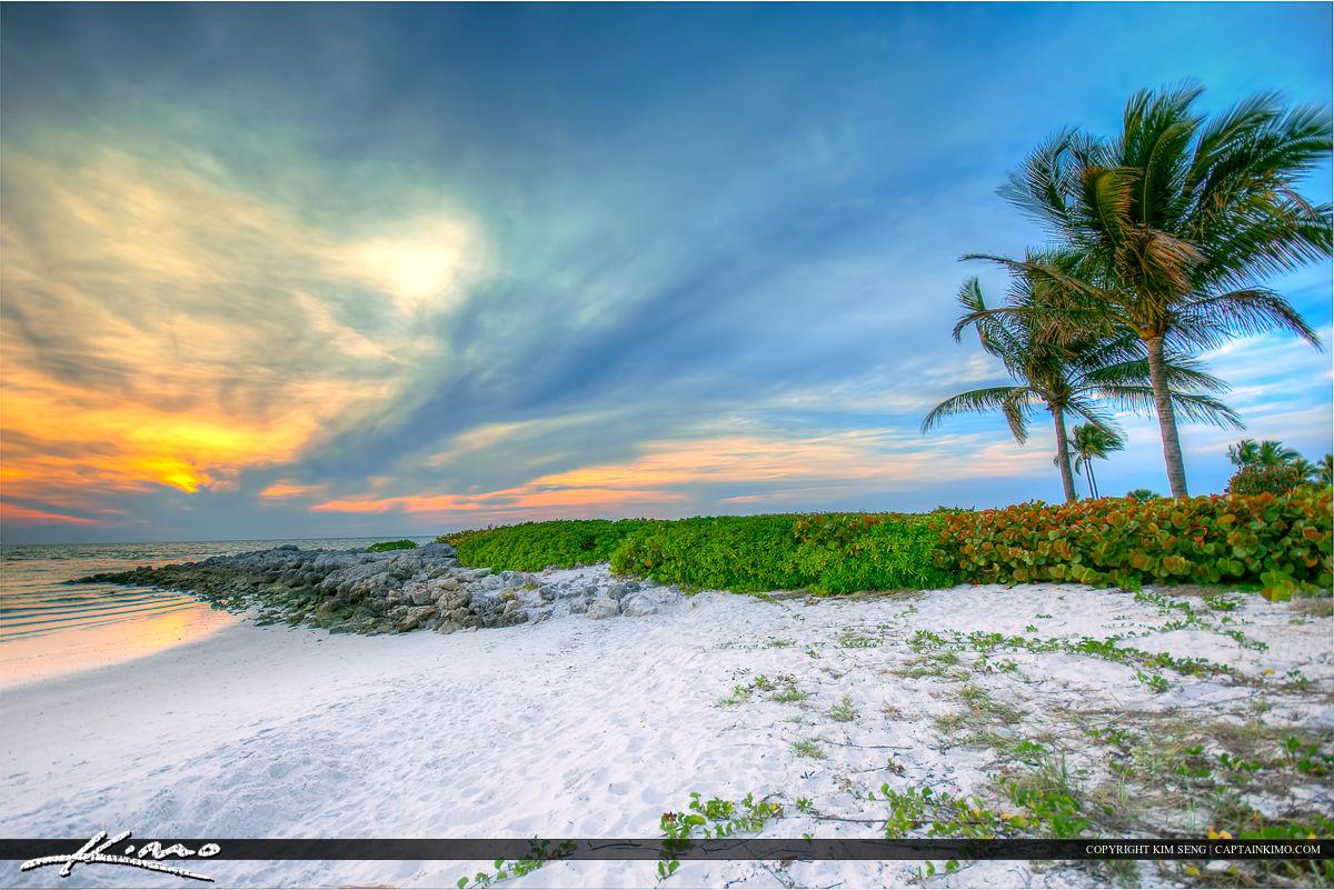 Naples White Sand at Beach Sunset