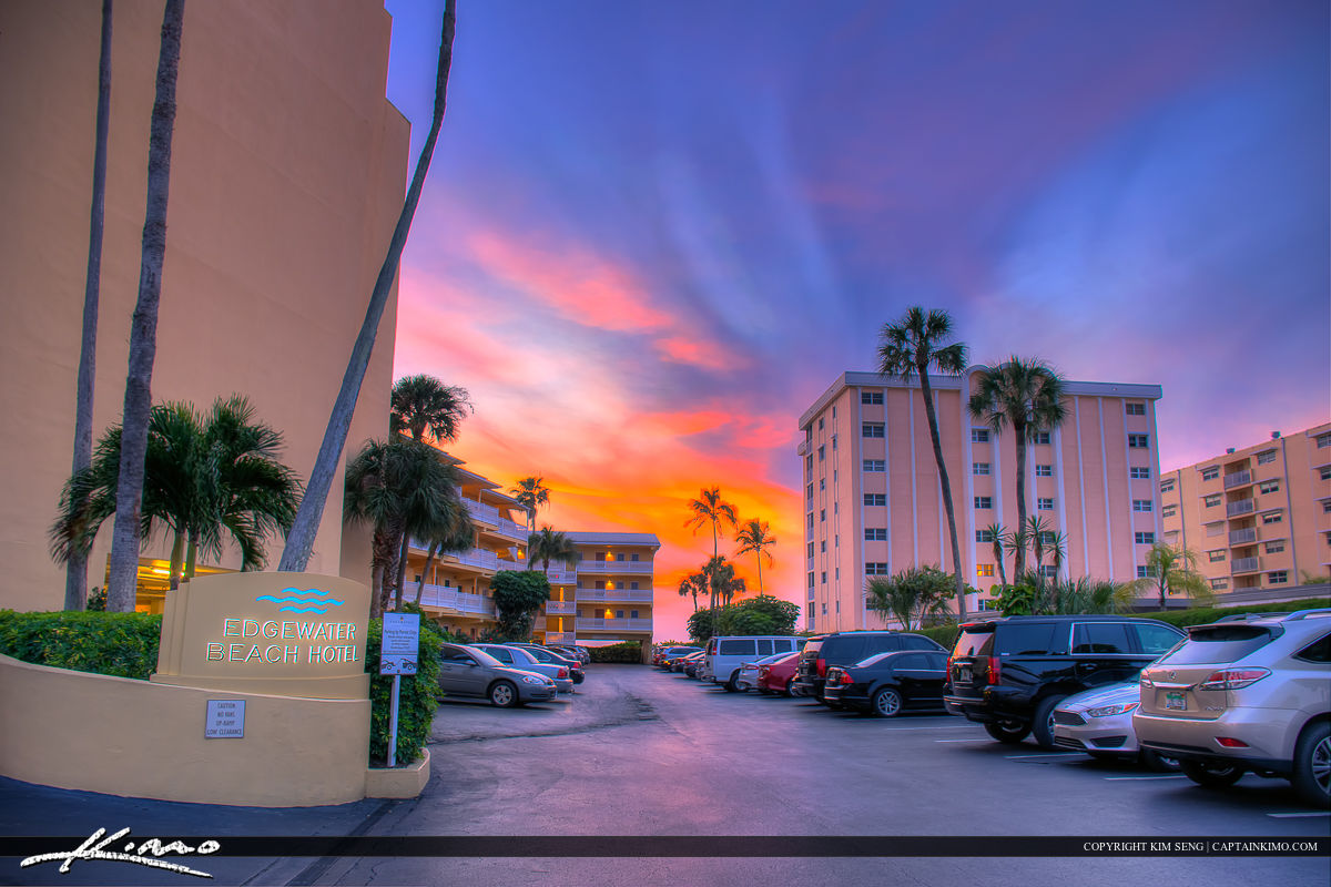 Sunset Colors at Edgewater Beach Hotel