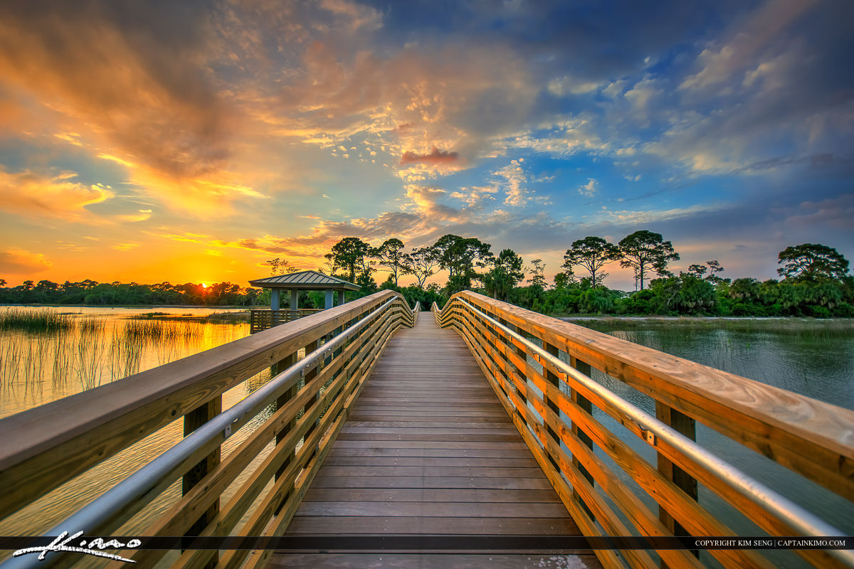 Winding Waters Sunset Boardwalk Sunset