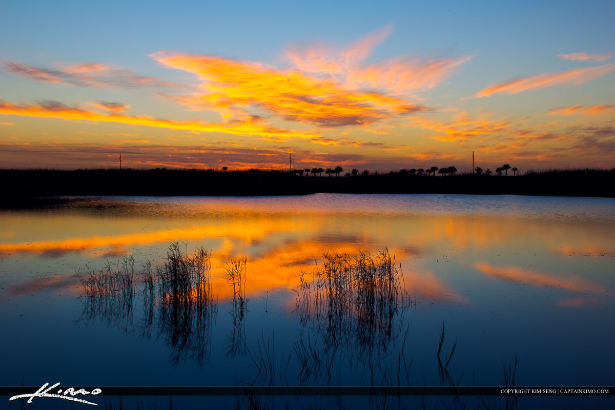 Wellington Preserve Sunset at Wetlands Palm Beach County