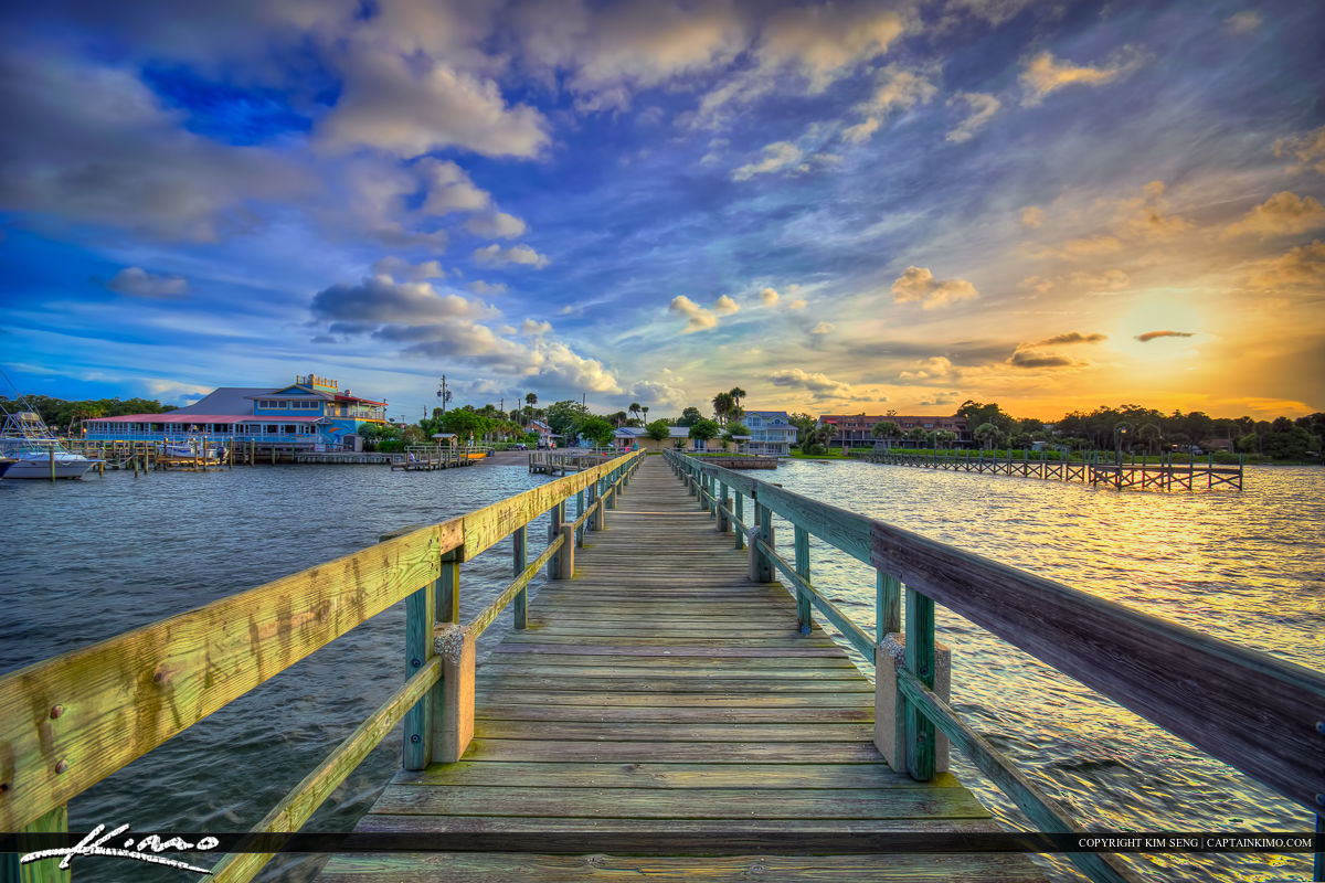 Sebastian Florida Photos Boat Dock Mulligans