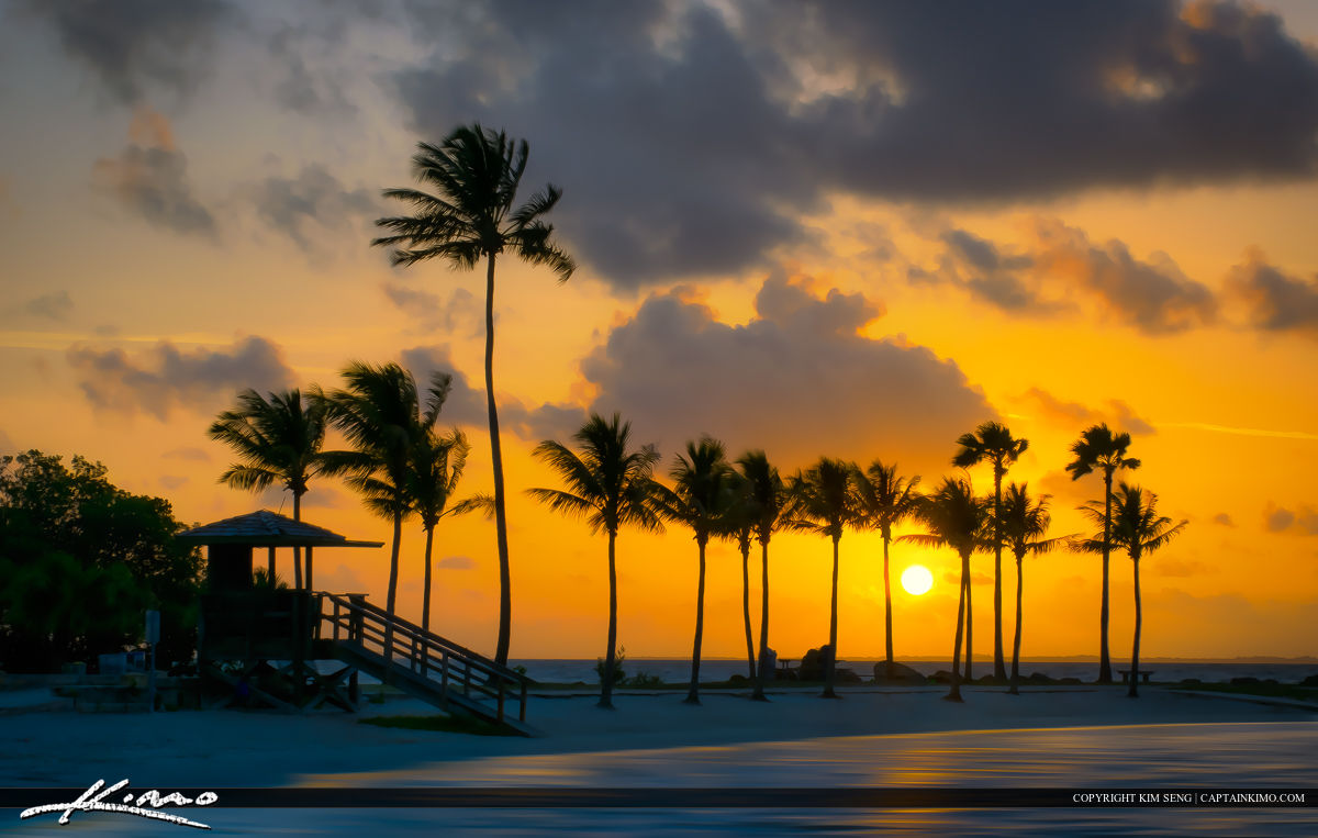 Sunrise at Matheson Hammock Park in Coral Gables Florida