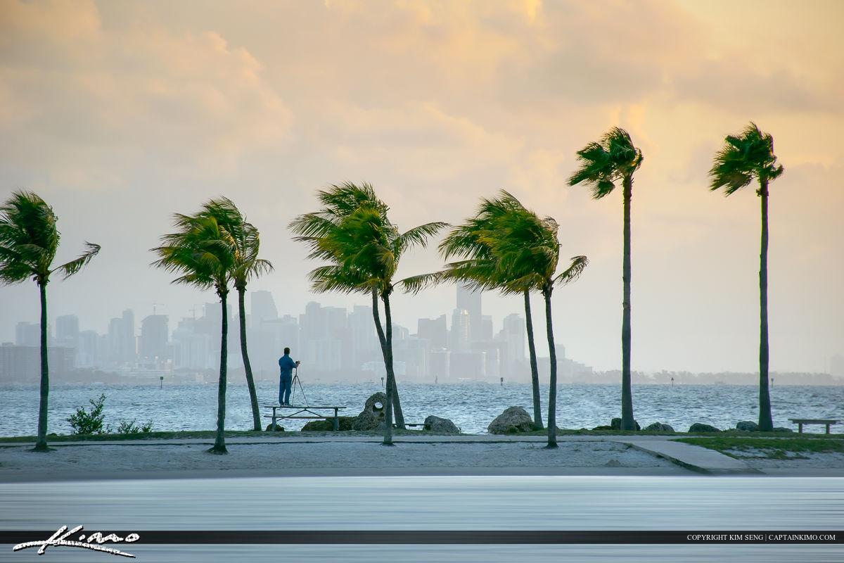 Photographer Photographing Miami Skyline
