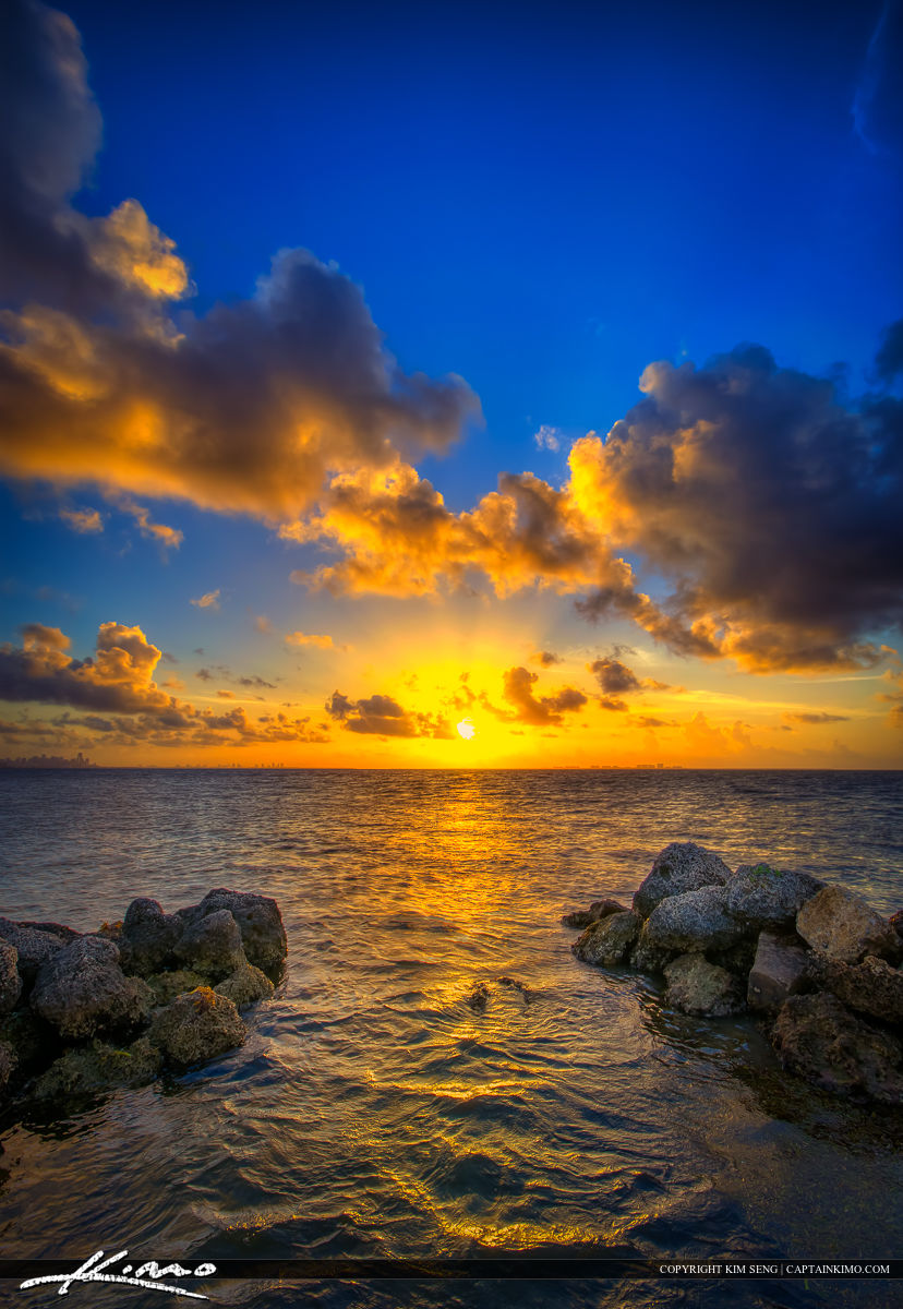 Sunrise over Biscayne Bay from Matheson Hammock Park