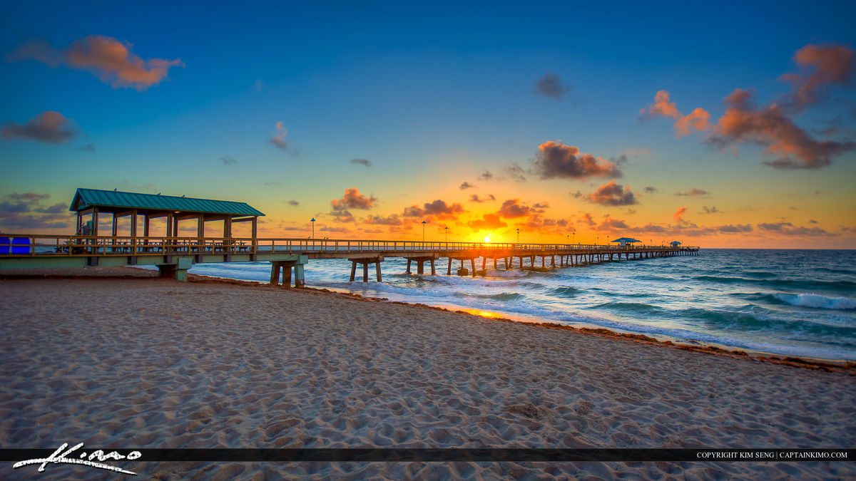 Sunrise at the Pier in Fort Lauderdale by the Sea