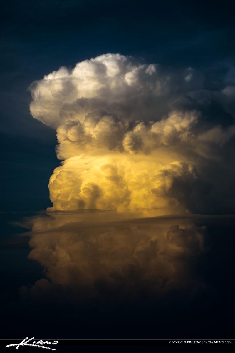 Florida Clouds Reflecting Sunset Light