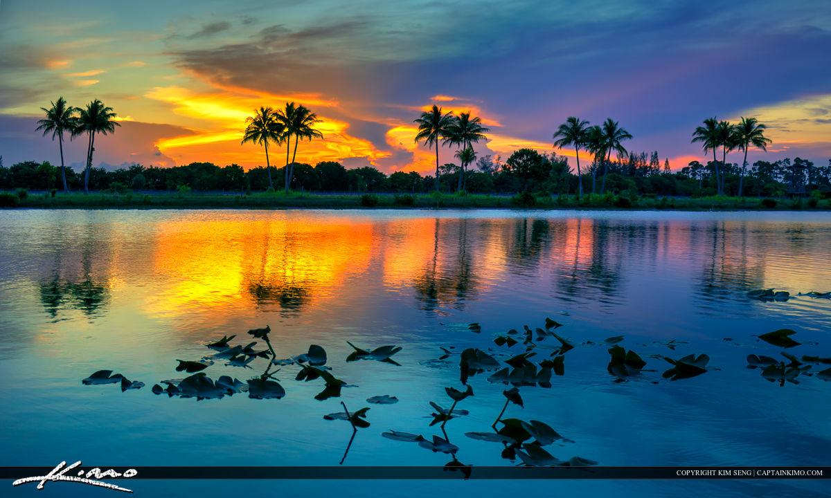 Okeeheelee Lake Sunset at the Water Ski Park Florida