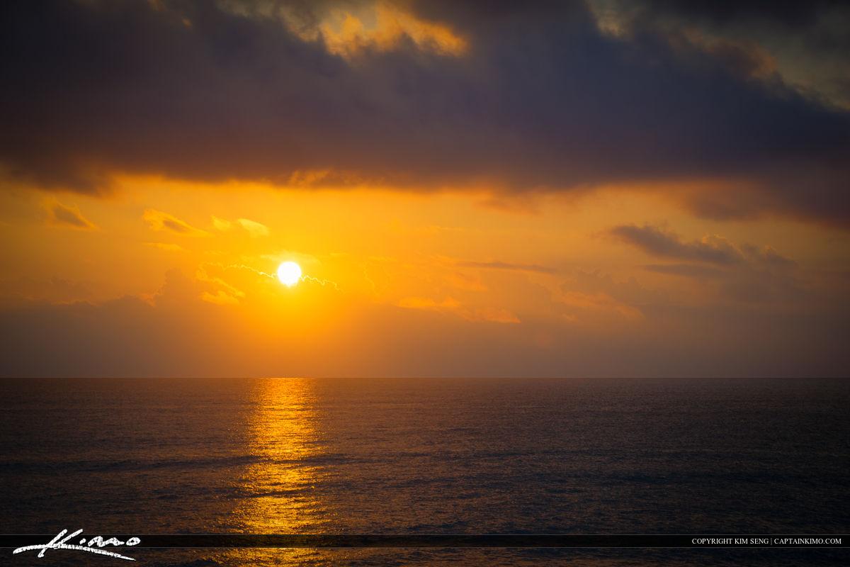 Hobe Sound Florida Sunrise Over Atlantic Ocean