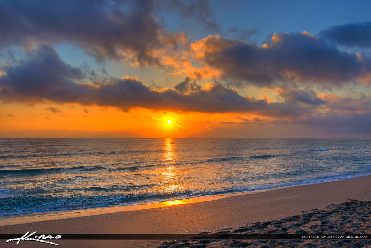 Hobe Sound Beach Sunrise from Martin County