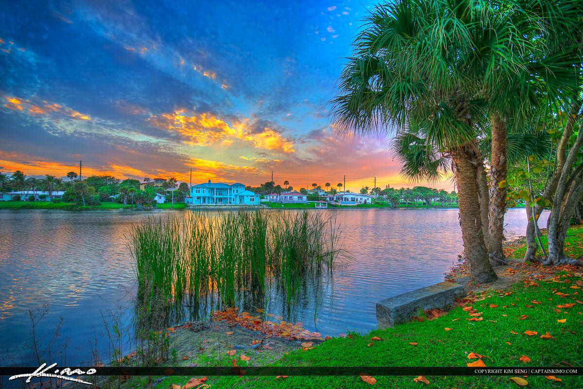 Juno Beach Sunset at Pelican Lake