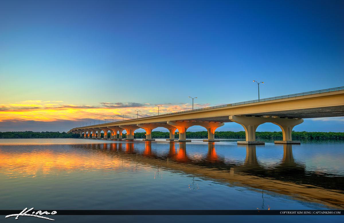 Palm City Florida Sunrise at Bridge