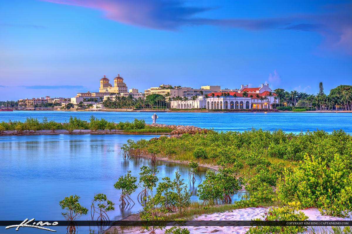 Flagler Museum along Waterway Palm Beach County Florida