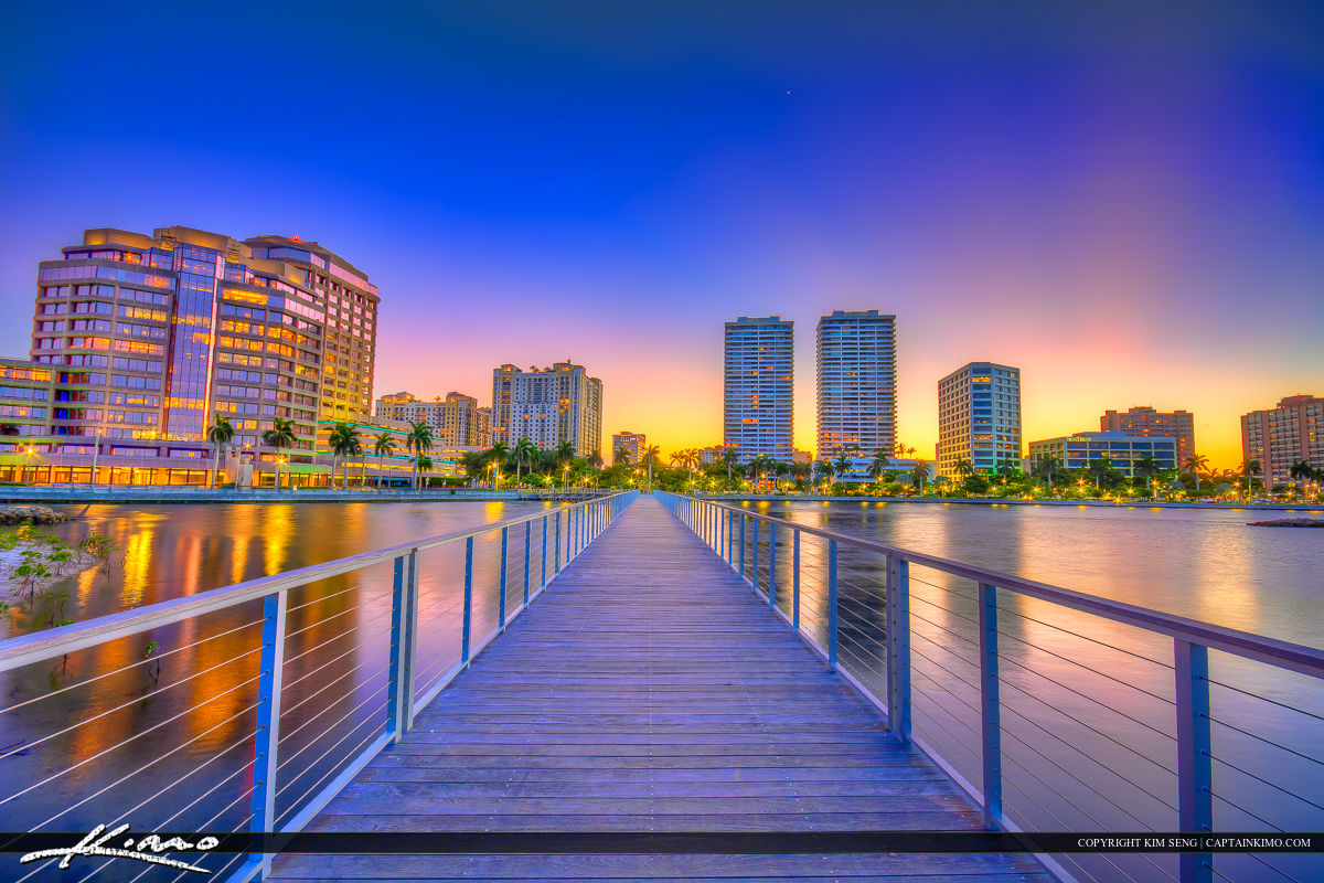 Cityscape Colors at West Palm Beach Downtown