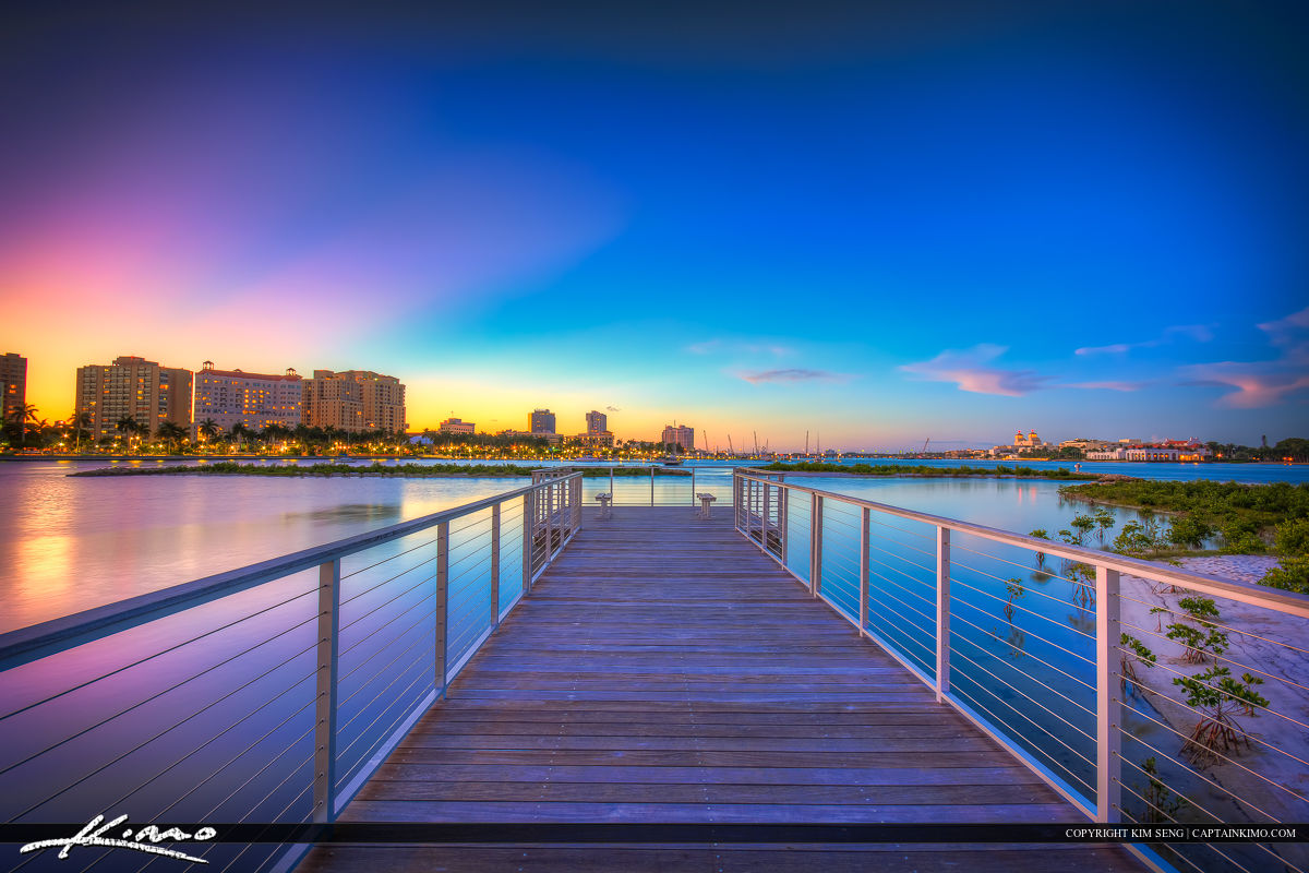 WPB View from Pier Downtown Waterway