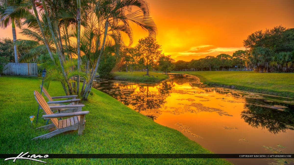 Insane Colors in the Sky Jupiter Florida Sunset