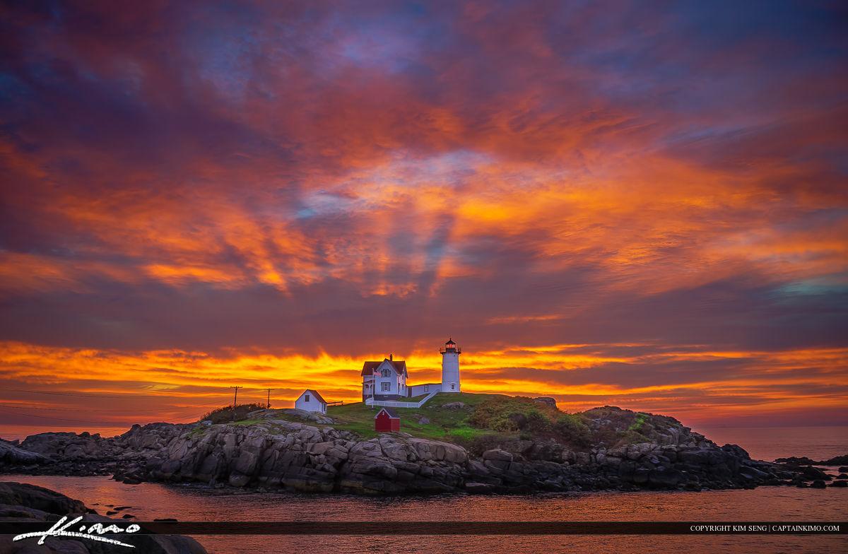 Sunrise Over York Maine at the Coast Cape Neddick
