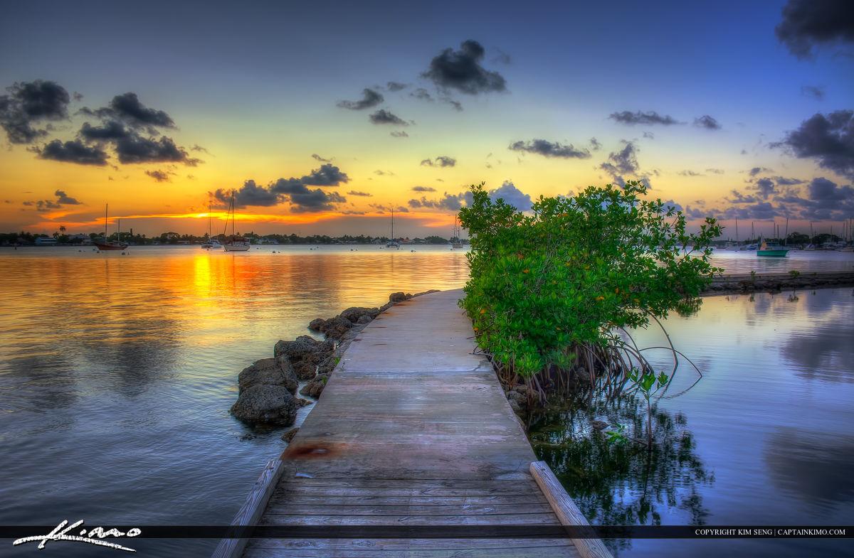 Sunset at Shepard Park in Stuart Florida
