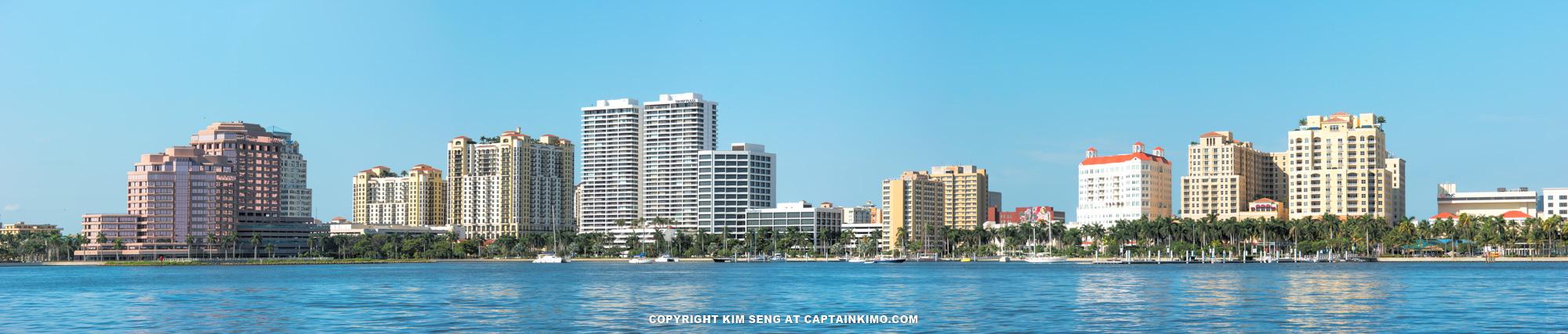 West Palm Beach Skyline Panorama High Resolution